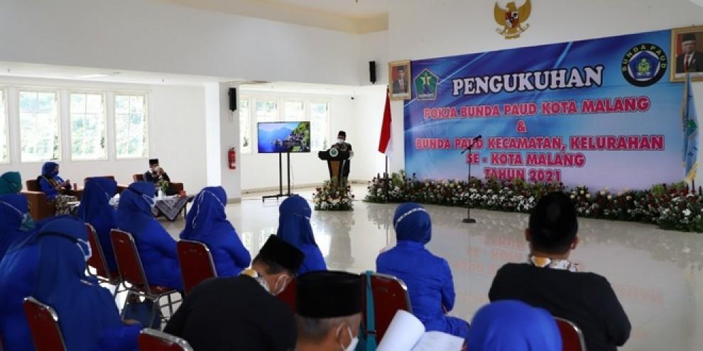 Bunda PAUD se-Kota Malang Dilantik dan Dikukuhkan oleh Sutiaji