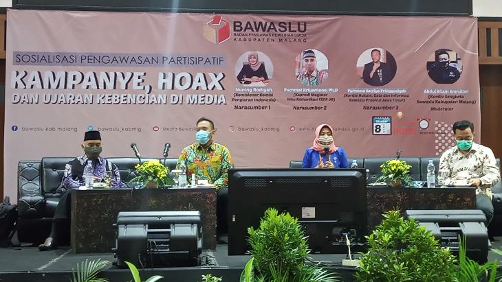 Bawaslu Ajak Masyarakat Cek Fakta Jelang Pilkada Kabupaten Malang