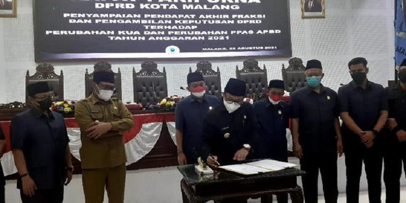 Perubahan KUA-PPAS APBD 2021 Kota Malang Diterima dan Disetujui DPRD